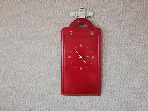【掛-kakeru- シリーズ】Wall Clock red