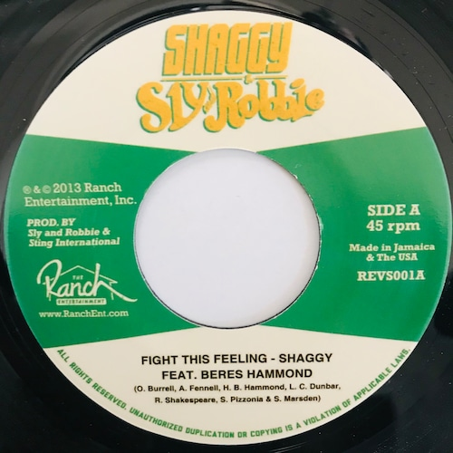 Shaggy feat. Beres Hammond - Fight This Feeling 【7-10942】