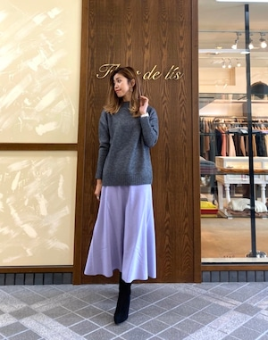 [SALE][送料無料] BED&BREAKFAST(ベッドアンドブレックファースト) Balancircular Air Melton スカート