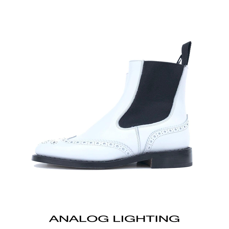 英国Tricker's別注/Chelsea Boots/WHITE