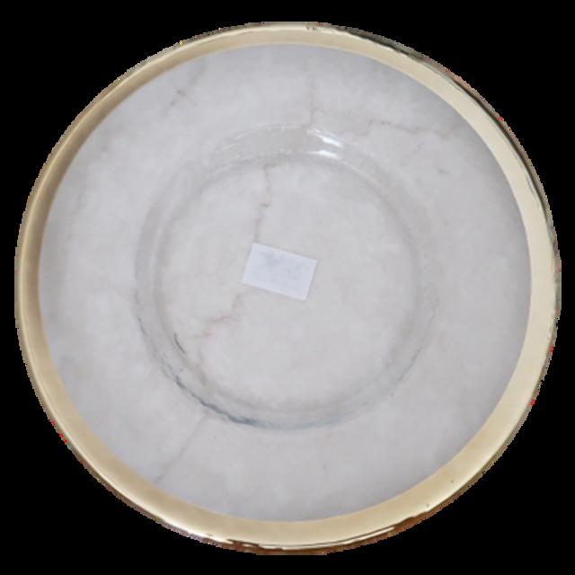Gold line glas plate 28cm  / ゴールドラインガラスプレート 28cm