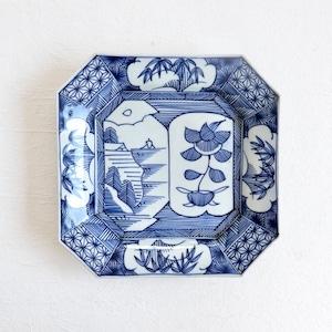〈再入荷〉【30970】伊万里染付 線描き 角大皿 / Imari Blue  Square Plate 30946