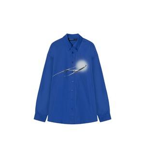 【gushpsychic】3 Dプリント長袖シャツ