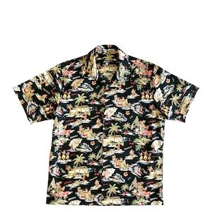 Mountain 半袖オープンアロハシャツ /  ALOHA DAYS  /  Black