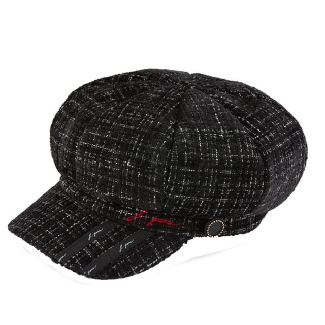 Tweed madoros  hat (Black)