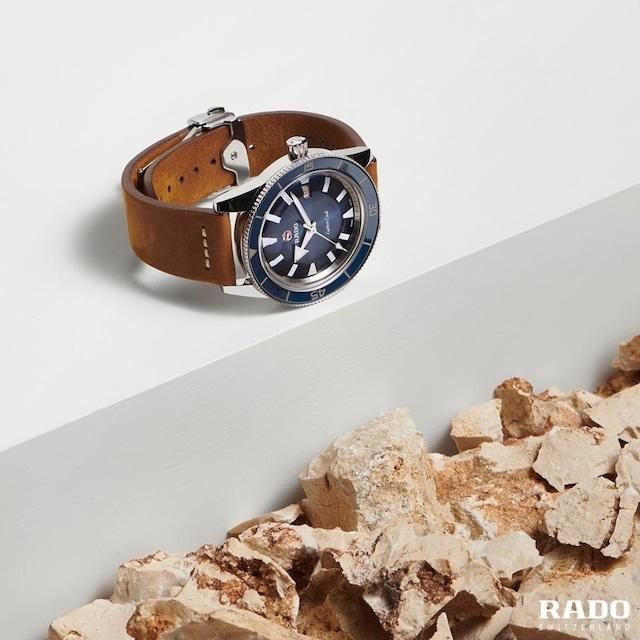 【RADO ラドー】Captain Cook キャプテンクック レザーストラップ(ブルー)/国内正規品 腕時計