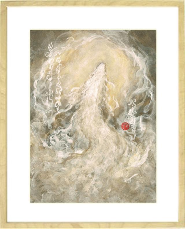 龍神画 ~白龍 上昇~ 風水画 原画F4サイズ