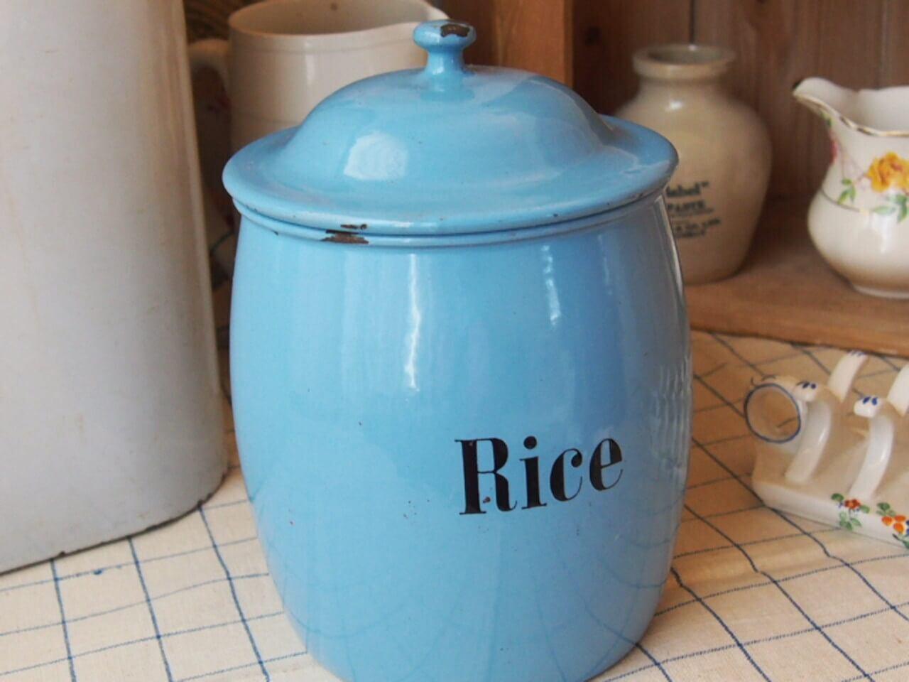 イギリスアンティーク キャニスター(Rice)