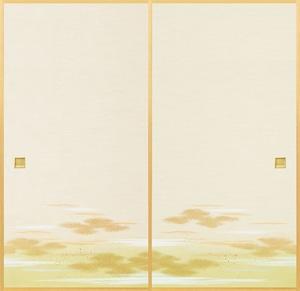 日新821(2枚柄) 織物ふすま紙 203cm×100cm 2枚1組セット