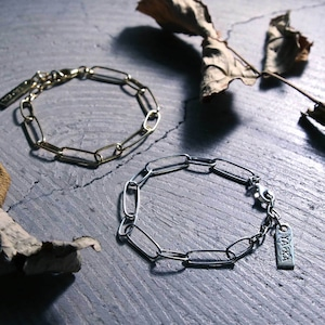 Y1909KHB1224【YArKA/ヤーカ】silver925 narrow parts bracelet[tgi]/チェーンブレスレット シルバー925