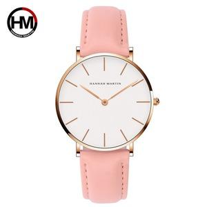 女性の時計クリエイティブトップブランド日本クォーツムーブメント時計ファッションシンプルな因果レザーストラップ女性の防水腕時計CB36-FF