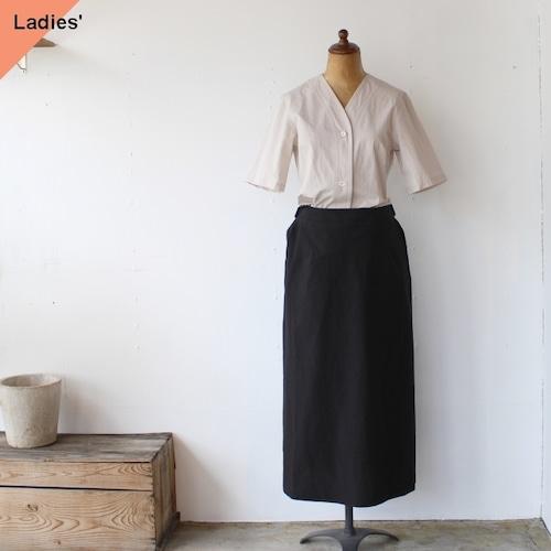 THE HINOKI ザヒノキ コットンボイルカラーレスドレス Oatmeal×Black TH20S-17
