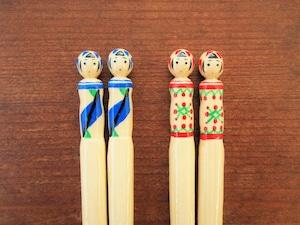 こけし箸 杜の都の竹工房