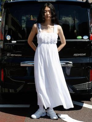 【New】ALBA CAMI DRESS - WHITE