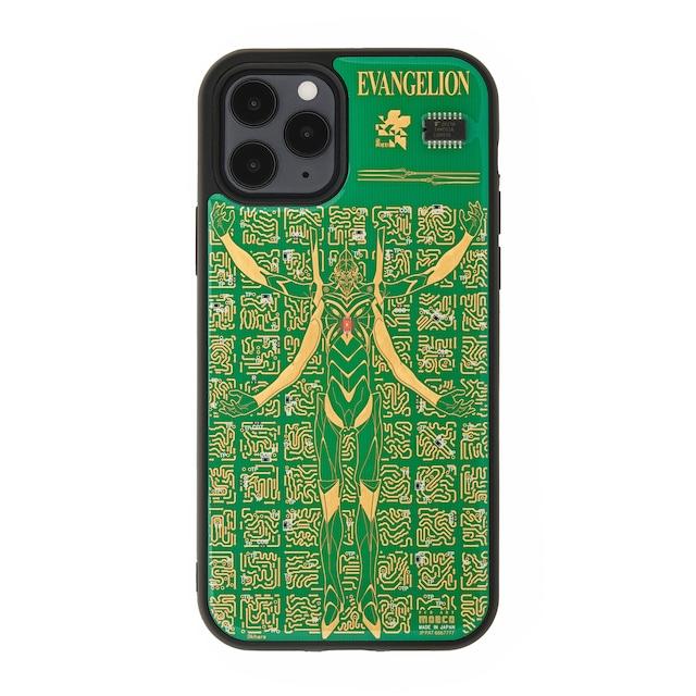 FLASH EVA13 基板アート iPhone 12 / 12 Pro ケース 緑【東京回路線図A5クリアファイルをプレゼント】