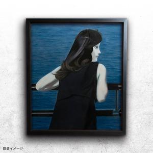 【絵画 油彩】『遠洋を望む』 F10 額入り