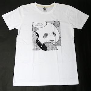 電話に驚くパンダが可愛い「ALRIGHT」パンダTシャツ
