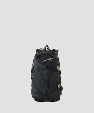 LORINZA Double Strap Backpack Black×Silver LO-STN-BP02