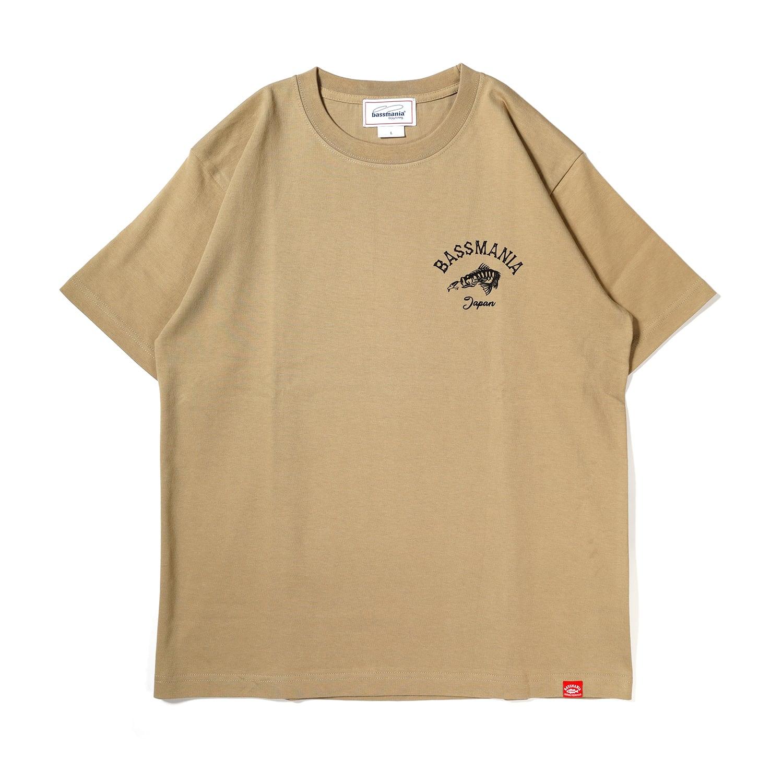 スカルプリントTシャツ[サンドカーキ]