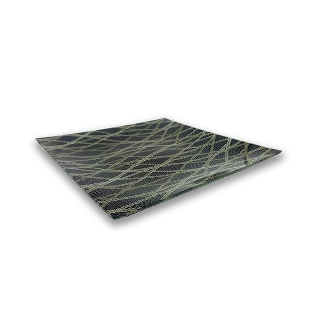 ガラストレー #82528MG ブラック (28cm 角皿)