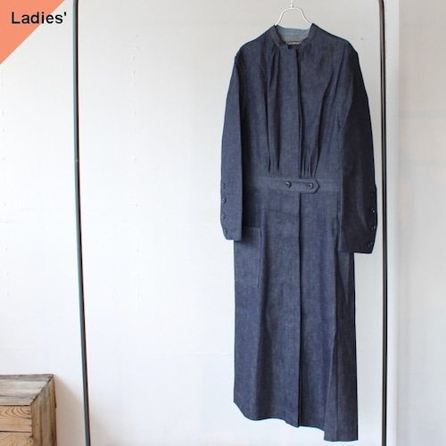 HAVERSACK ハバーサック Denim Coat Onepiece セルビッジデニムコートワンピース 372001 Indigo