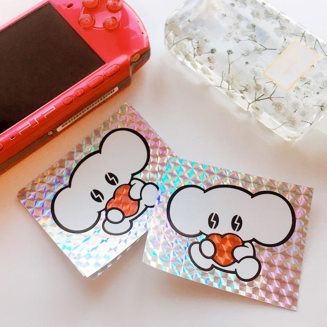 キラキラハートステッカー(Heart Sticker)