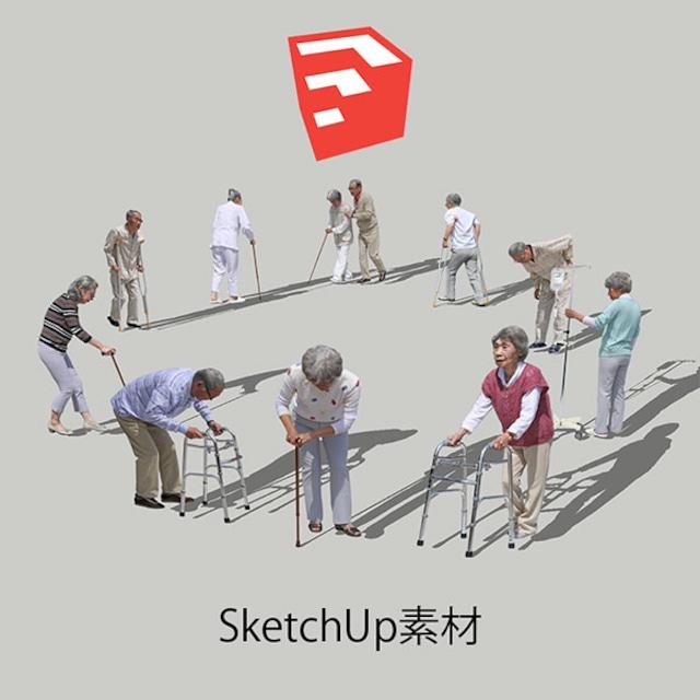 医療人物SketchUp素材10個 4p_set049 - メイン画像