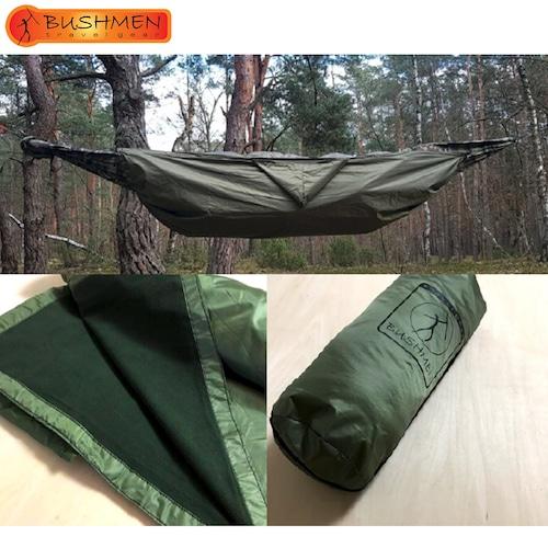 BUSHMEN ブッシュメン THERMO Blanket ハンモック 超軽量 ブランケット カラビナ パラシュート 耐水 自然派 キャンプ アウトドア