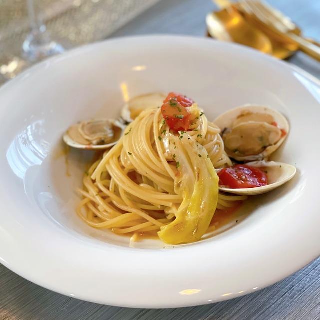 キャベツと蛤のスープペペロンチーノ