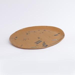 huge ceramics (ヒュージセラミックス) by 堀内大輔 オーバルプレートM  練り込み
