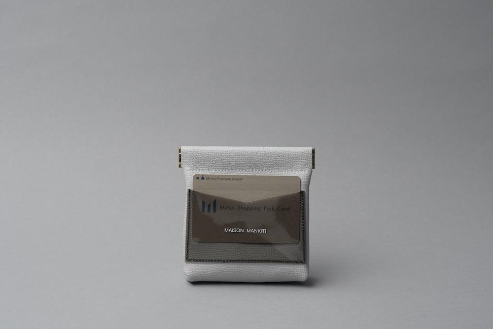 ワンタッチ・コインケース ■ライトグレー・クリアブラック■ - 画像4