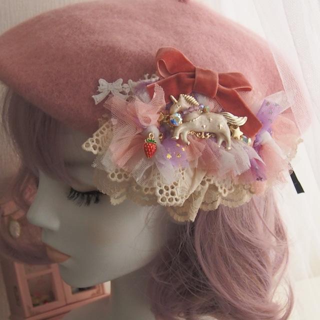 【10/6 21:00】ポワポワベレー帽 ピンク