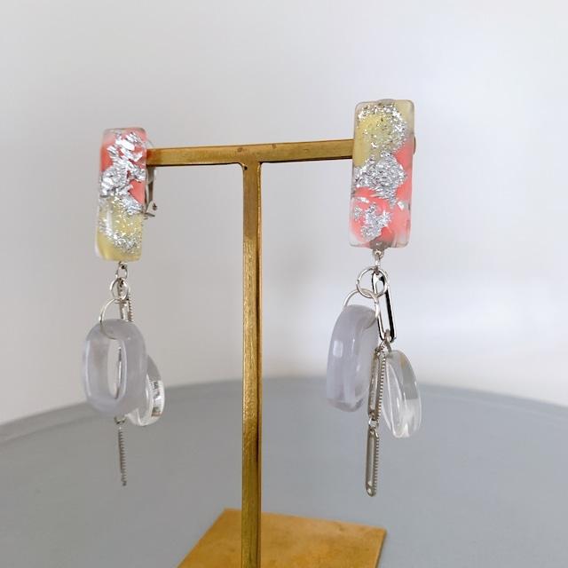 """"""" Earrings NO.danoan-72″ ペイント箔入ジャラ付けイヤリング"""