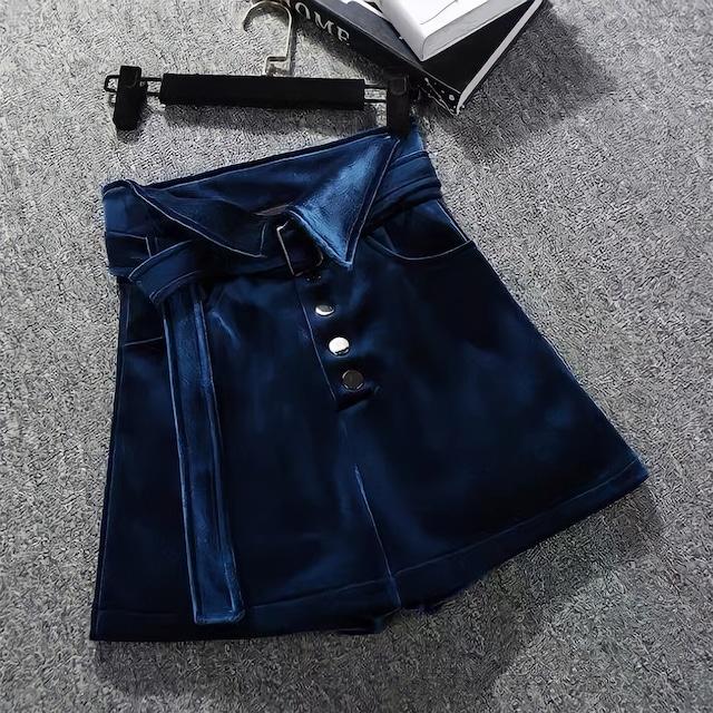 【即納】velvet navy pants