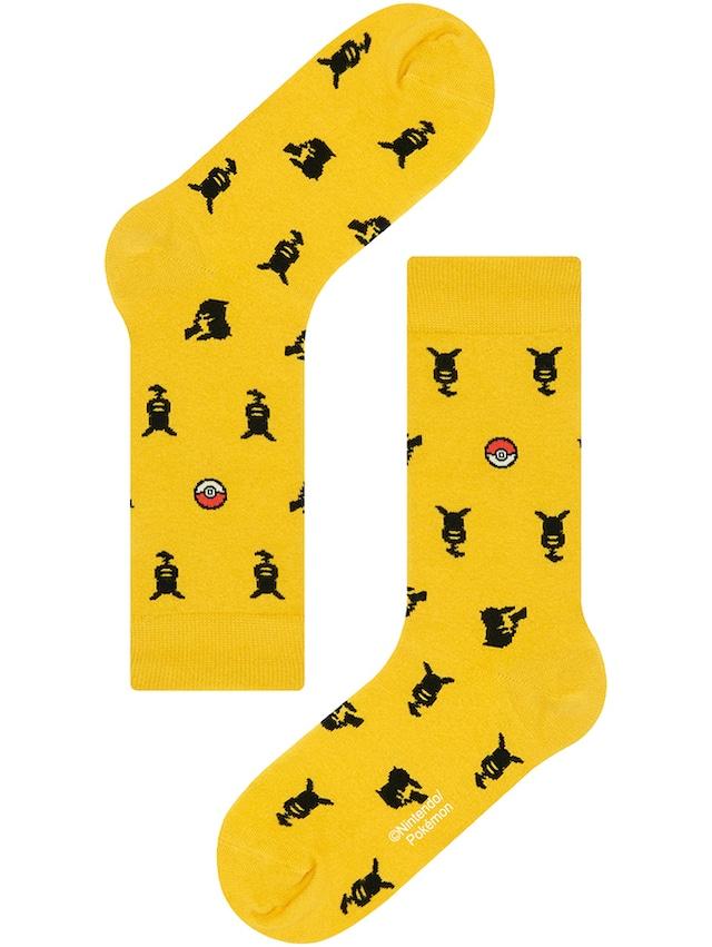 【Pocket Monsters socksappeal】PIKACHU -SILHOUETTE 【ポケットモンスターソックスアピール】ピカチュウ -シルエット