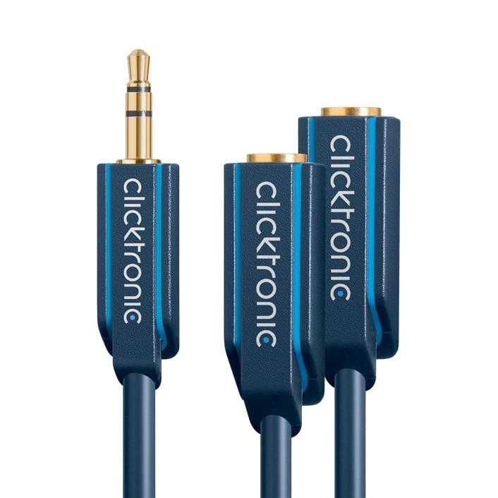 (70491)ヘッドホン分配ケーブル10cm :: Clicktronic