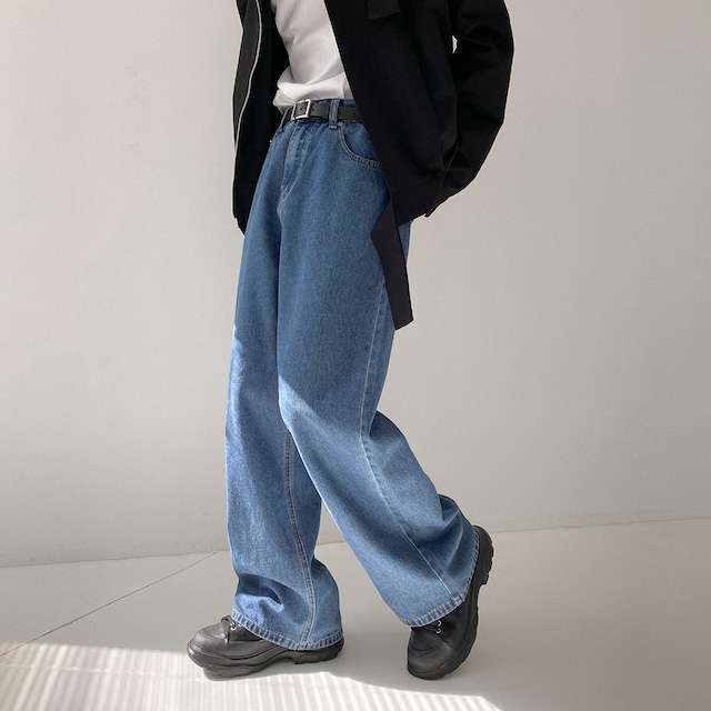 Loose wide leg jeans   a-079