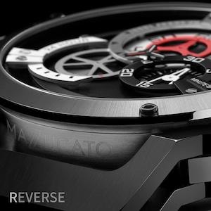 【MAZZUCATO マッツカート】RIM-01(ブラック×シルバー)/国内正規品 腕時計