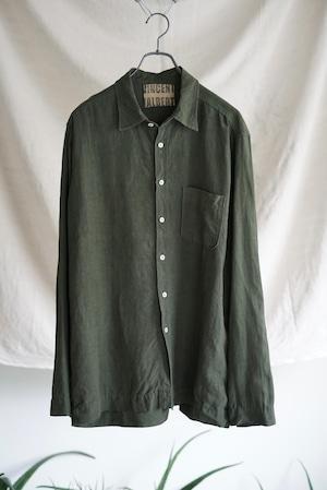 <SOLD OUT>Vincent Jalbert - Full Vintage Linen Shirt (khaki)