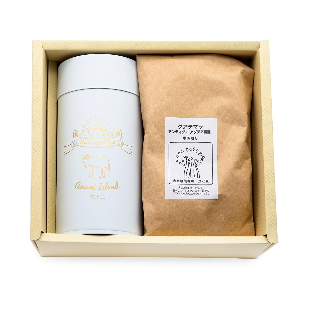 珈琲(100g入)とキャニスター缶のセット gift-E
