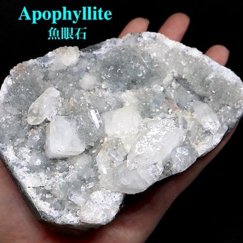 アポフィライト 魚眼石 インド産 原石 魚眼石 標本 759,3g APL002 鉱物 天然石 パワーストーン 浄化