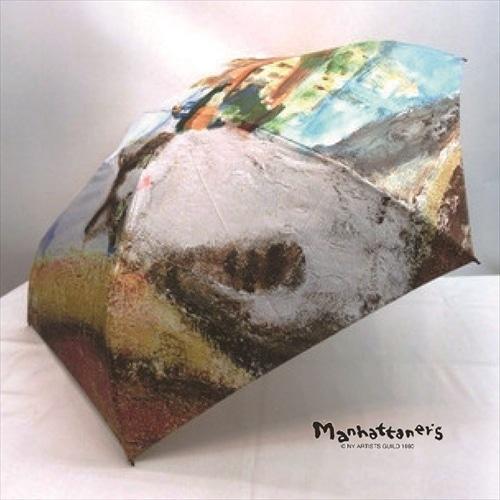 絵画柄の折畳雨傘(レディス手開き)絵の題名「トリニータ橋のフェデリコ」《送料無料/宅急便コンパクト》