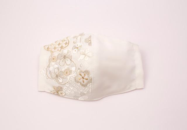 【着物マスク】チャーム付き・刺繍マスク- KOTOHOGI(m03902)