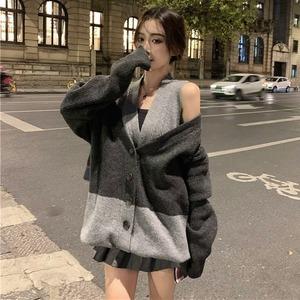 【トップス】カジュアル切り替えレトロファッションセーター52903961