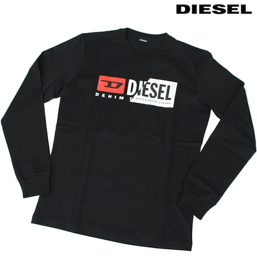 DIESEL ディーゼル Tシャツ 長袖 プリント Tシャツ ロンT メンズ T-DIEGO-LS-CUTY BLACK 2020 秋モデル 送料無料