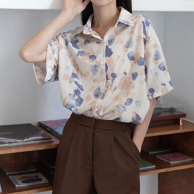 ヴィンテージ ペタル シャツ | シャツ ブラウス レトロ 古着 韓国服