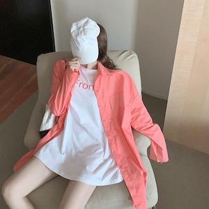 《即納》ピンクシャツ+ホワイトTシャツ