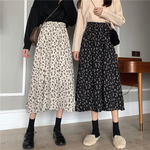 韓国 花柄 スカート SHQ561901