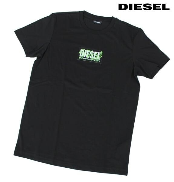 DIESEL ディーゼル Tシャツ 半袖 プリント Tシャツ メンズ T-DIEGO-N34 BLACK 2020 秋モデル 送料無料