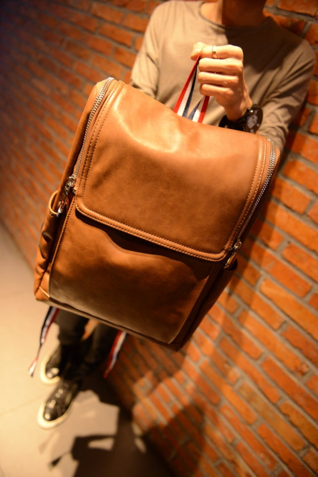 リュックサック レザー 革 メンズ  デイバッグ バックパック 通勤 通学bag-77
